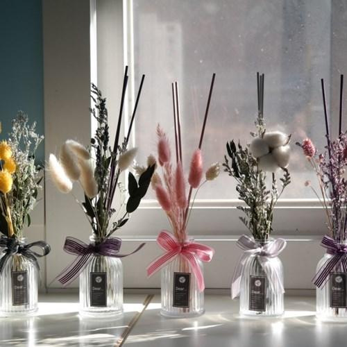 B001890079 過期的名品香水插入乾燥花~就是超乎質感的室內香氛!