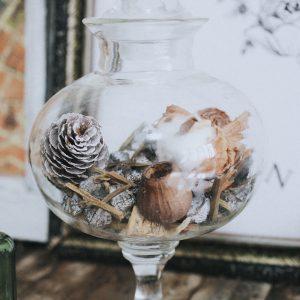 古董盅型玻璃瓶老件