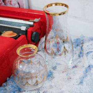 義大利老件 / 金邊印花玻璃器皿