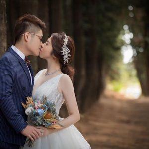 森林復古感大份量手綁新娘捧花美式捧花