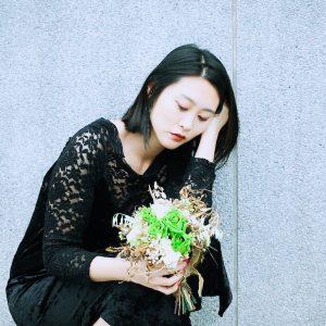 森林花徑綠色不凋新娘捧花