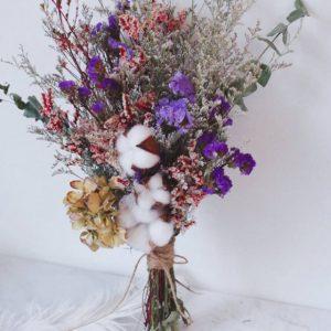 且聽風吟大份量新娘乾燥捧花拍照花束