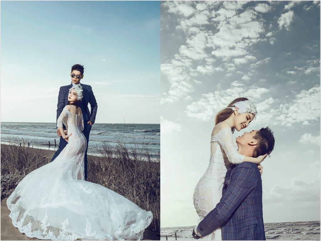沙崙海水浴場 1024x770 新娘請收藏~店主私心推薦的小清新台北自助婚紗行程+捧花搭配!