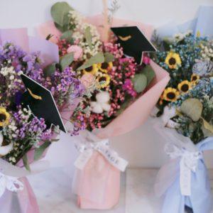 畢業花束乾燥花束