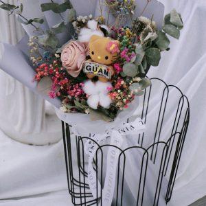 店主獨家訂製玩偶乾燥花束(完全客製化)