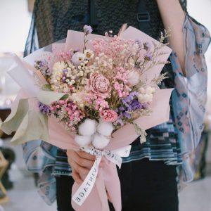 乾燥花滿天星送禮花束