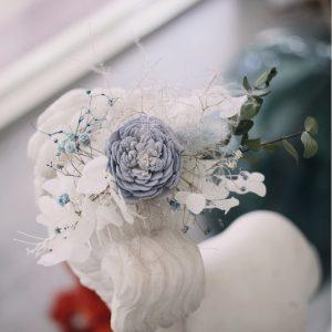 婚禮外拍乾燥花髮飾