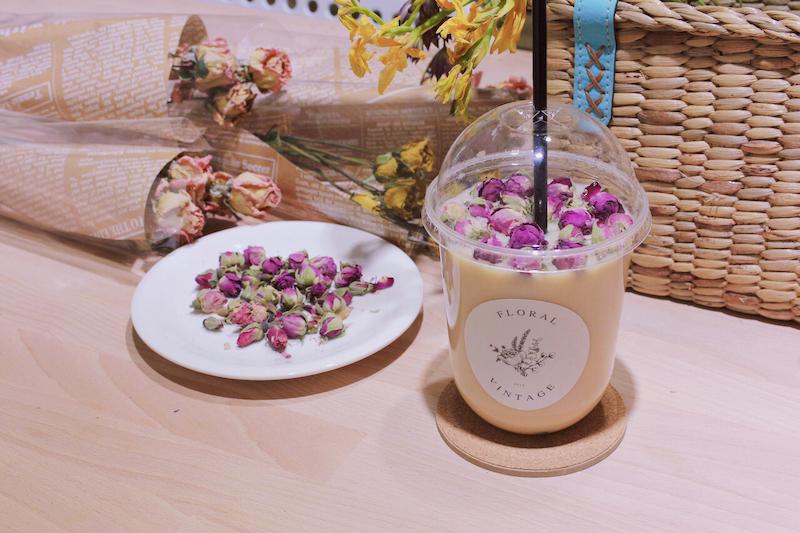 乾燥花鮮奶茶