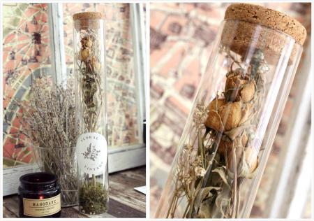 玻璃乾燥花擺飾