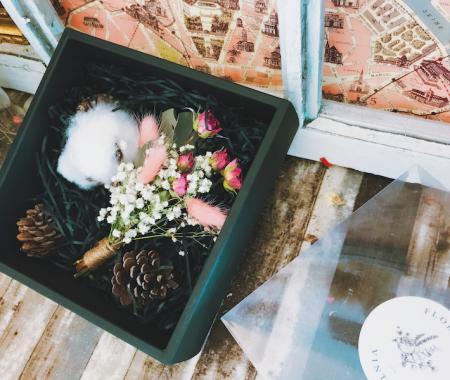 品牌質感乾燥花束禮盒