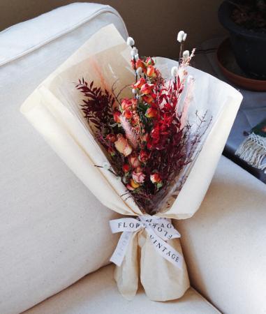 暖暖冬陽色乾燥花束