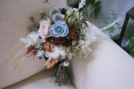 我的愛情顏色不飽和但有安全感 / 莫蘭迪色自然感新娘捧花
