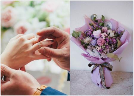 大份量乾燥花求婚花束